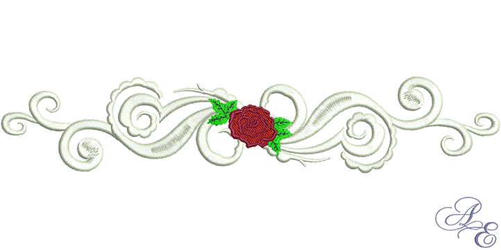 rose scroll border art of embroidery